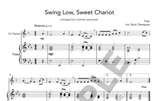 Amazing Grace and Swing Low Sweet Chariot - sample page