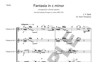 Bach - Fantasie in c minor sample page