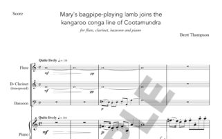 Mary's bagpipe-playing lamb joins the kangaroo conga line of